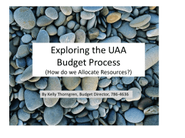 Budget Process - University of Alaska Anchorage