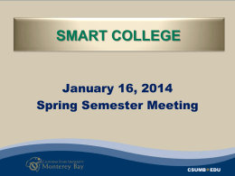 Spring 2014 College-wide Meeting Agenda