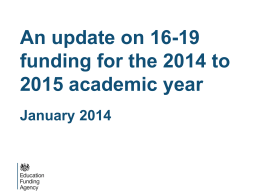 EFA Briefing - Jan`14 - Northumbria Learning Providers