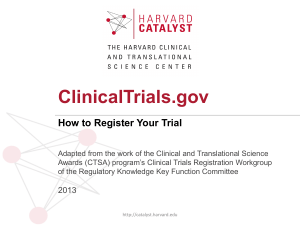 Clinical Trials and FDAAA for NIH Grantees Part I