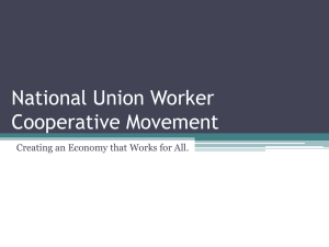 National Union Worker Cooperative Movement
