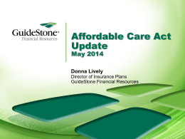 Affordable Care Act Update for Churches and Nonprofits