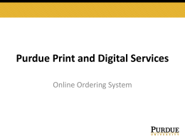 PowerPoint Instructions - Purdue Print and Digital Services