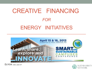 Creative Financing for Energy Initiatives