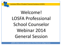 General Session - Louisiana Office of Student Financial Assistance