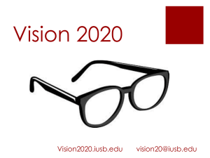 Vision 2020 Workshop 2015