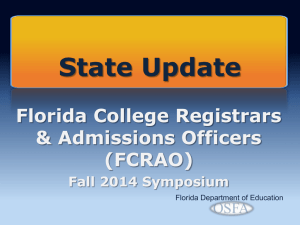 FLDOE State Update - Palm Beach State College