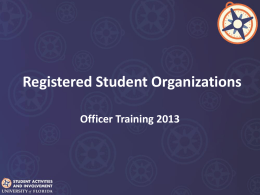 Organization Basics Student Activities and