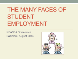The Many Faces of Student Employment