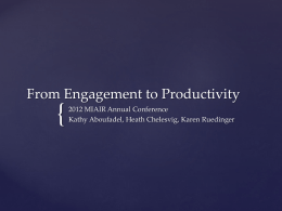 From Engagement to Productivity