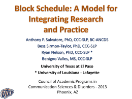 Block Schedule - Sal..