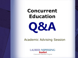 Practicum Q&A - Nipissing University