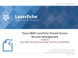 Texas A&M University Records Management