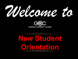 Student services - Glendale Community College