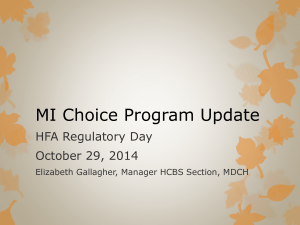 MI Choice Program Update