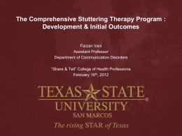 The Comprehensive Stuttering Therapy Program: Development