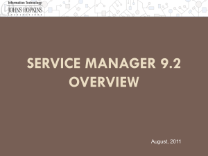 Service Manager Overview ( format)