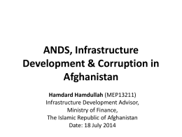 Infrastructure Development and Policy Issues in Afghanistan