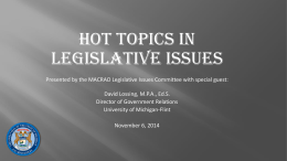 MACRAO Hot Topics 2014 PPT