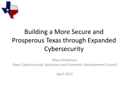 Texas Cybersecurity, Education and Economic Development Council