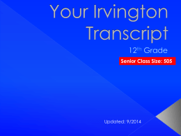 Your Irvington Transcript - Fremont Unified School District