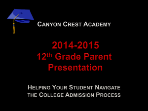 12th Grade Parent Presentation