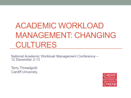 Workload Planning: Changing Cultures