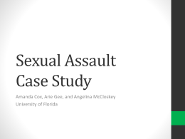 Sexual Assault Case Study