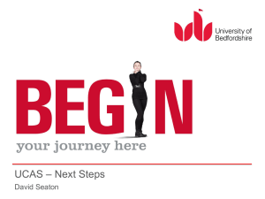 UCAS The Next Step and Finance Talk (Feb 2014)