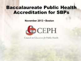 full-time faculty member - Council on Education for Public Health