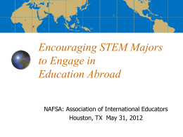 Encouraging STEM Majors to Engage in Study Abroad
