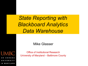 State Reporting with Blackboard Analytics DW - REX
