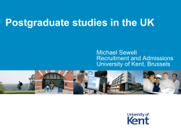 Why study in the UK?