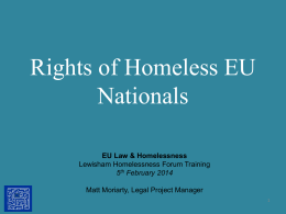 The Rights of EEA National Victims of Human