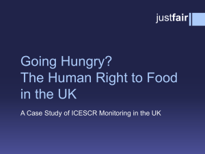 Going Hungry: The Human Right to Food in the UK