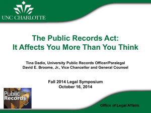 The Public Records Act - Office of Legal Affairs