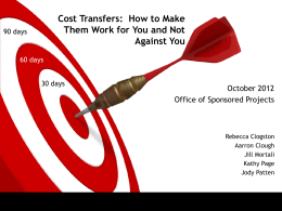 Cost Transfers: How to Make Them Work for You and Not Against You