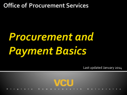 Procurement and Payment Basics Training