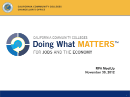 the presentation - Doing What Matters for Jobs and the