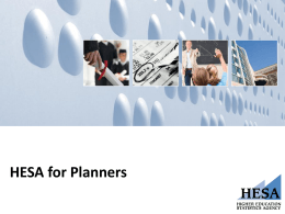 HESA for Planners slides (London 15 May 2013)