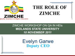 zimche - Midlands State University