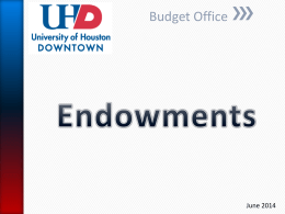 UHD Endowments