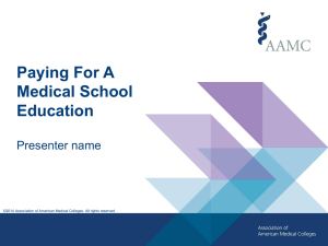 Financing Medical School Education Presentation