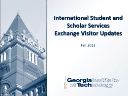 Exchange Visitor Categories - Office of International Education