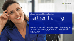 PS Partner training module 2 - Planning Services Partner Portal