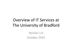 Overview of IT Services - University of Bradford