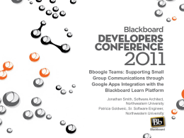BboogleTeams - EduGarage (Blackboard Developers Network)