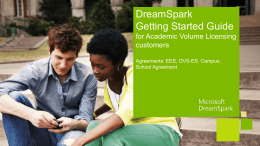 Dreamspark Powerpoint - MnSCU Information Technology Services