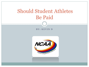 Should Student Athletes Be Paid
