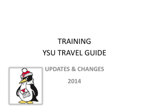 Travel Guidelines Training - Power Point 2014